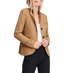 women's rag & bone slade wool blazer, size 00 - beige