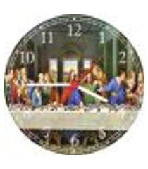relógio de parede santa ceia jesus apóstolos religiosidade católico