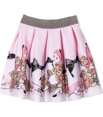 monnalisa pink teddy bear skirt