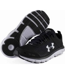 tenis negro under armour charged assert 8