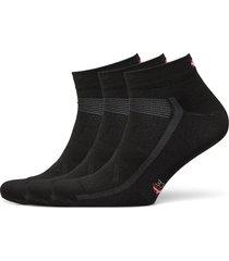low cut cycling socks 3 pack ankelstrumpor korta strumpor svart danish endurance