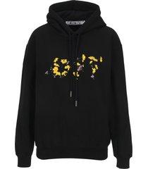 off white flower reg hoodie
