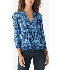 lucky brand printed popover top