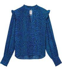 saskia leopard blouse