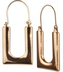 charter club gold-tone square hoop earrings, created for macy's
