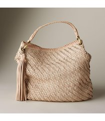 supple basketweave tote