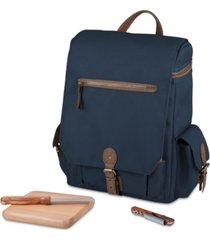 legacy by picnic time navy moreno 3-bottle wine & cheese tote