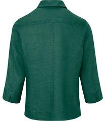 blouse 100% linnen 3/4-mouwen van peter hahn groen