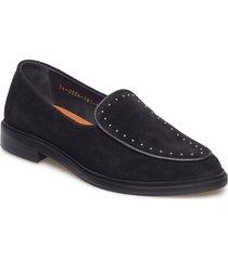 border rivet loafer suede loafers låga skor svart royal republiq