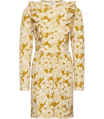 floral dress klänning gul müsli by green cotton
