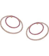 19kt rose gold pink modernist earring