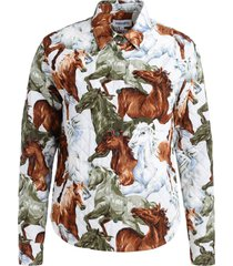 kenzo chavaux jacket with horses print