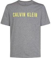 calvin klein heren t-shirt - logo grijs en geel