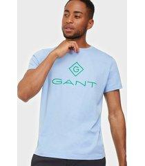 gant d1. color lock up ss t-shirt t-shirts & linnen blue bell
