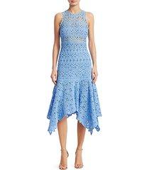 floral crochet cotton midi dress