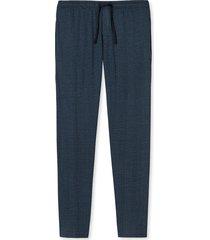 schiesser pyjamabroek jersey mini ruitje blauw