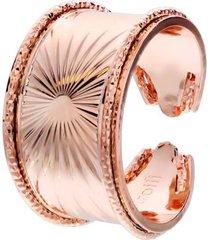 anello raggi a fascia in bronzo rosato per donna