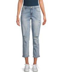 kensie women's distressed boyfriend jeans - pace - size 30 (10)