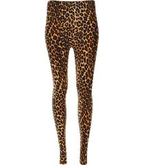 leggings estampado animal print color negro, talla 10