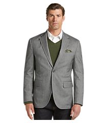reserve collection tailored fit herringbone casual jacket clearance