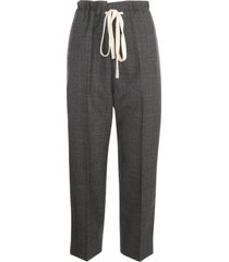 sofie dhoore fully lined creased pants w/drawstring