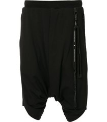 niløs drop-crotch shorts - black