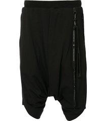 niløs drop-crotch shorts - black