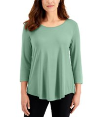 jm collection 3/4-sleeve solid top, created for macy's