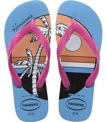 sandalias chanclas havaianas unisex rosado top vibes