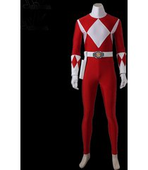 tyranno ranger prince geki cosplay costume zyuranger red ranger bodysuit zentai