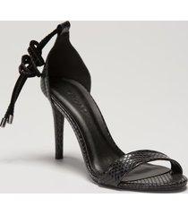 amaro feminino sandália amarração salto fino, preto