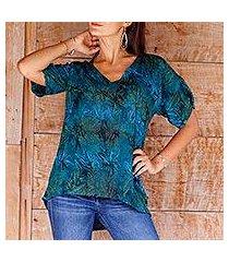 rayon batik blouse, 'bali kenanga' (indonesia)