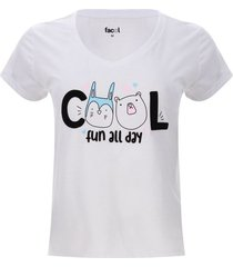 camiseta descanso cool color blanco, talla xxl