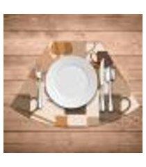 jogo americano para mesa redonda wevans master café kit com 4 pçs