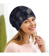 berretto da donna in cotone camouflage berretto vintage con elastico traspirante