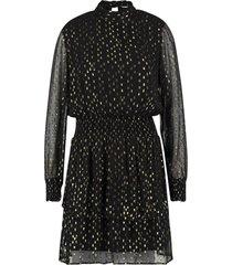 jurk met lurexprint gabry  zwart