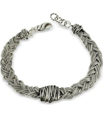 giacomo burroni sterling silver braid w/etruscan knot