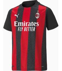 ac milan home replica shirt, zwart/rood, maat 128 | puma
