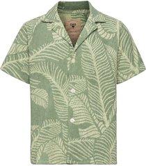 banana leaf terry shirt overhemd met korte mouwen groen oas