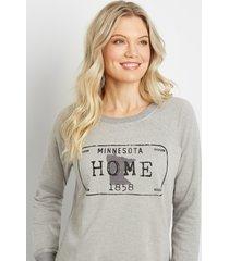 maurices womens gray minnesota crew neck sweatshirt