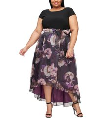 sl fashions plus size high-low gown