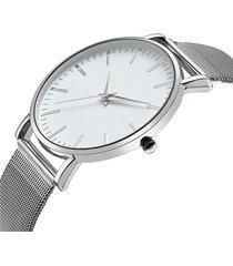 reloj hombre ultra delgado acero inoxidable 1298 plateado