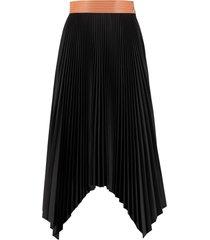 loewe pleated asymmetrical skirt