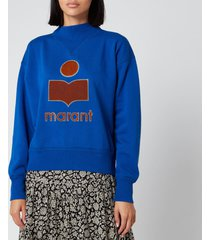 isabel marant étoile women's moby sweatshirt - electric blue - fr 40/uk 12