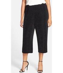 plus size women's vikki vi high rise stretch knit crop pants