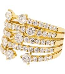 graziela 18kt yellow gold diamond cage ring