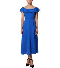 bcbgeneration off-the-shoulder midi dress