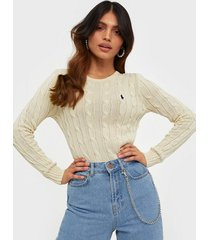 polo ralph lauren cable-knit cotton jumper stickade tröjor