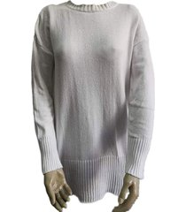 sweater blanco zaf liso