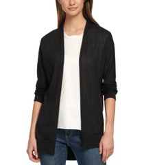 dkny open-front high-low cardigan